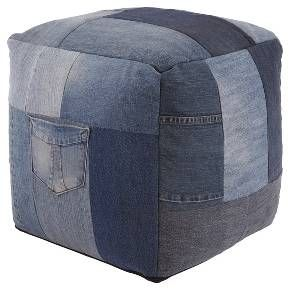 Who doesn't love the relaxed look and feel of denim? Aaden patchwork pouf combines a variety of washes to create a one-of-a-kind style you'll love lounging on. Signature Design by Ashley is a registered trademark of Ashley Furniture Industries, Inc.
