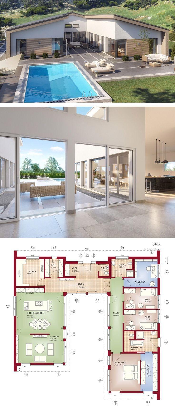 """Bungalowhaus Modernes europäisches Design für architektonische Entwürfe """"AMBIENCE 209 SD"""" – Traumhaus"""