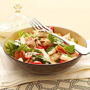 Chicken BLT Salad with Buttermilk Dressing