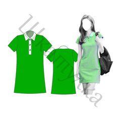 Выкройка женской рубашки-поло