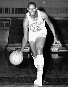 The 1st Black person to play in the NBA was Earl Lloyd of WV State College, a forward for the WA Capitols. Lloyd played 10 seasons with WA Capitols, Syracuse & the Detroit Pistons. He was also the 1st Black assistant coach & the 1st Black chief scout in t