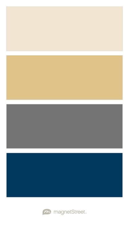 Champagne, Gold, Charcoal, and Navy Wedding Color Palette - custom color palette created at MagnetStreet.com