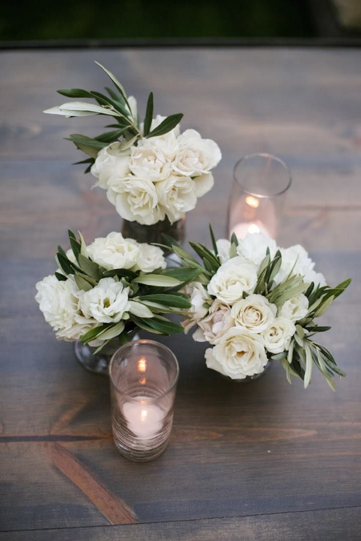 Blush pink napa valley wedding centerpieces and