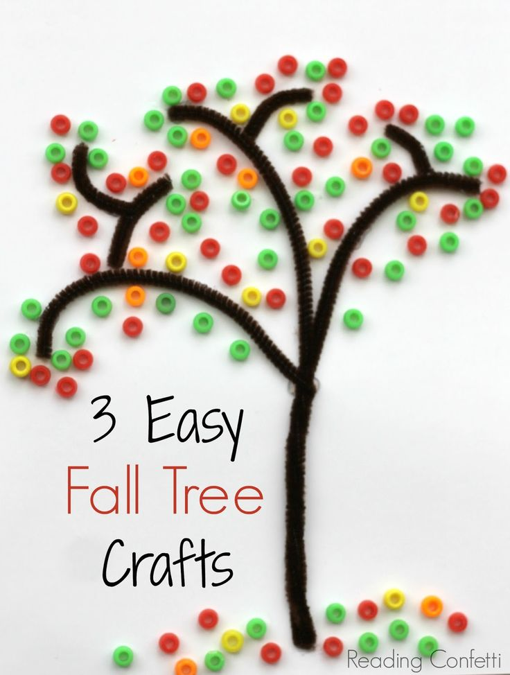 Easy Fall Kids Crafts That Anyone Can Make: Three Easy Fall Tree Crafts For Kids