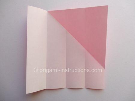 Origami Magie Rose Cube Etape 3