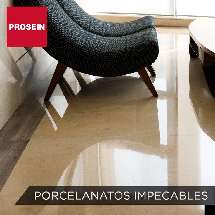 Tips Prosein: ¿Sabías qué una esponja de nylon o cepillo de cerdas muy suaves, son los ideales para limpiar tu piso en porcelanato?