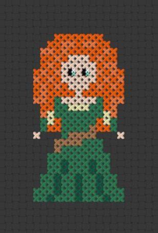 Pixel+Princess++Merida++From+Brave+Printable+by+ThatsSewEllie,+$2.00