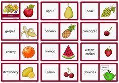 """Englisch in der Grundschule: Dominos """"fruit"""""""