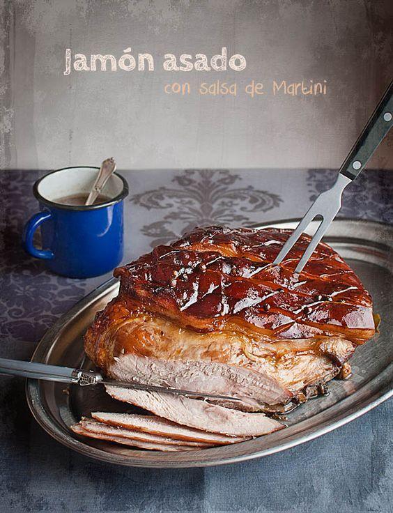 Baked ham with Martini sauce, Jamón asado con salsa de Martini | El Invitado de Invierno | https://lomejordelaweb.es