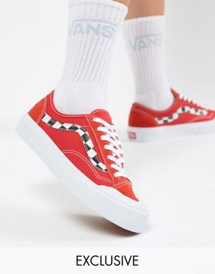 2f79b992fede64 Vans Exclusive Red Style 36 Decon Sf Sneakers