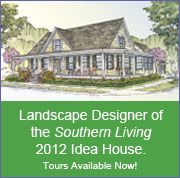 Customized landscaping for your home from getmorecurbappeal.com, landscape designers for the the 2012 Southern Living Idea House.