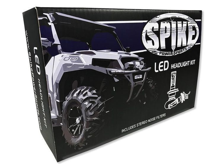 Spike Powersports LED Replacement Bulb Kit with filters (Polaris vehicles)