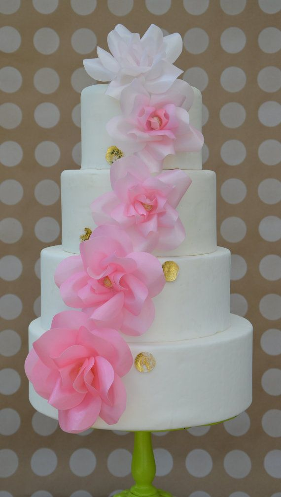 Pin By Pat Korn On Wafer Paper Cakes Paper Flowers Wedding Wafer