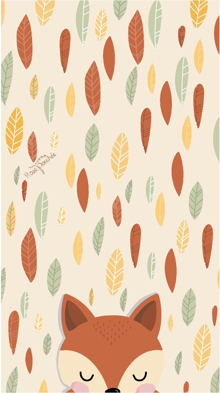 Joli fond d'écran d'automne avec un petit renard - wallpaper autumn - fall wallpaper iphone - wallpaper phone -