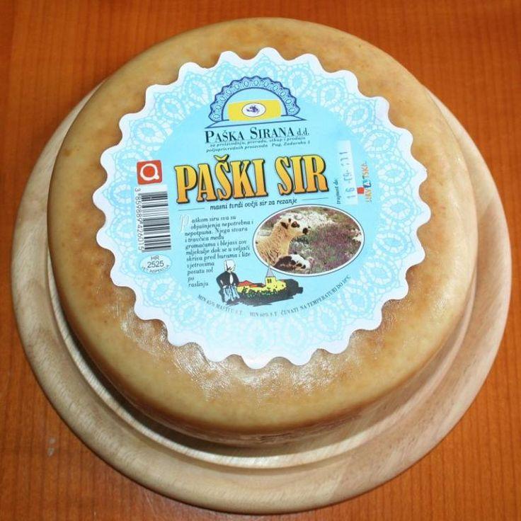 Paški sir. Svetovno znan hrvaški sir z dolgoletno tradicijo, dobitnik številnih nagrad.