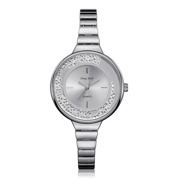 New Brand Fashion Rhinestone Diamond Ball Watch Strap Quartz Watch Women Gold Silver relogio feminino prata #Affiliate