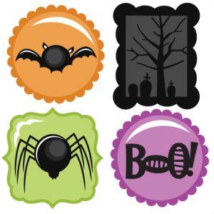 Halloween Icons Set SVG scrapbook title spiderweb svg cut file halloween svg cuts free svgs