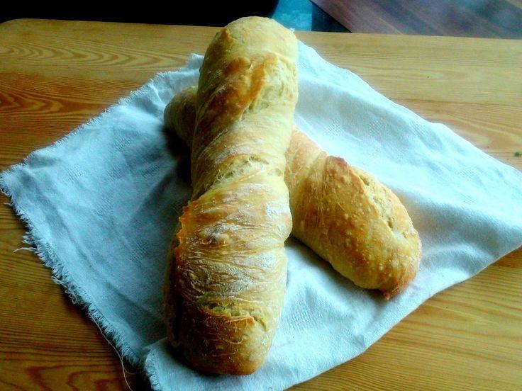 Egyszerű gyökérkenyér - Simple ciabatta bread