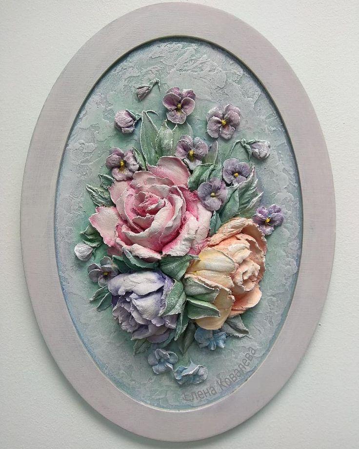 Вот он мой розовый мир и розовый сад! Еще одна работа которая не выставлялась в готовом виде. #картина_еленыковалевой…