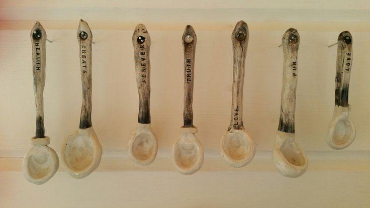 Ceramic spoons of love  www.bernadettedoolan.com