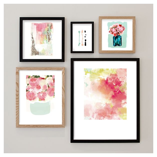 My bedroom gallery wall inspiration board curated by kristen at minted