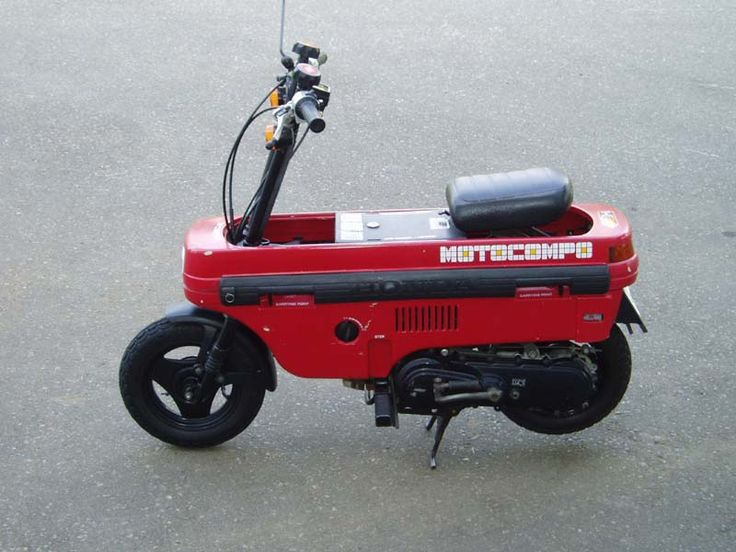 "The Honda Motocompo is a tiny folding scooter sold by Honda 1981-1983.  The Motocompo was introduced as a ""Trunk Bike"" to fit inside subcompact cars like the Honda Today and the then new Honda City.  #honda #motocompo"
