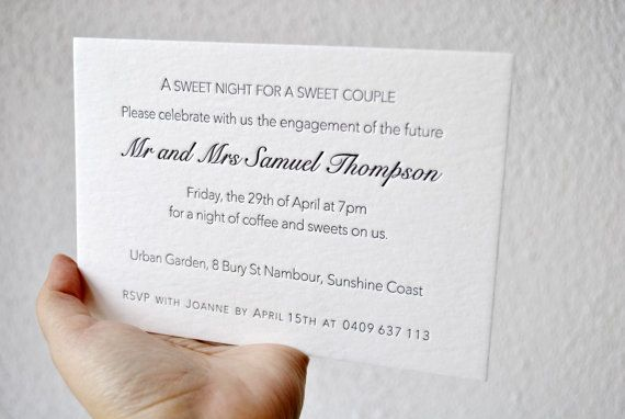Letterpress wedding invitations custom wedding by FunkyPrintStudio