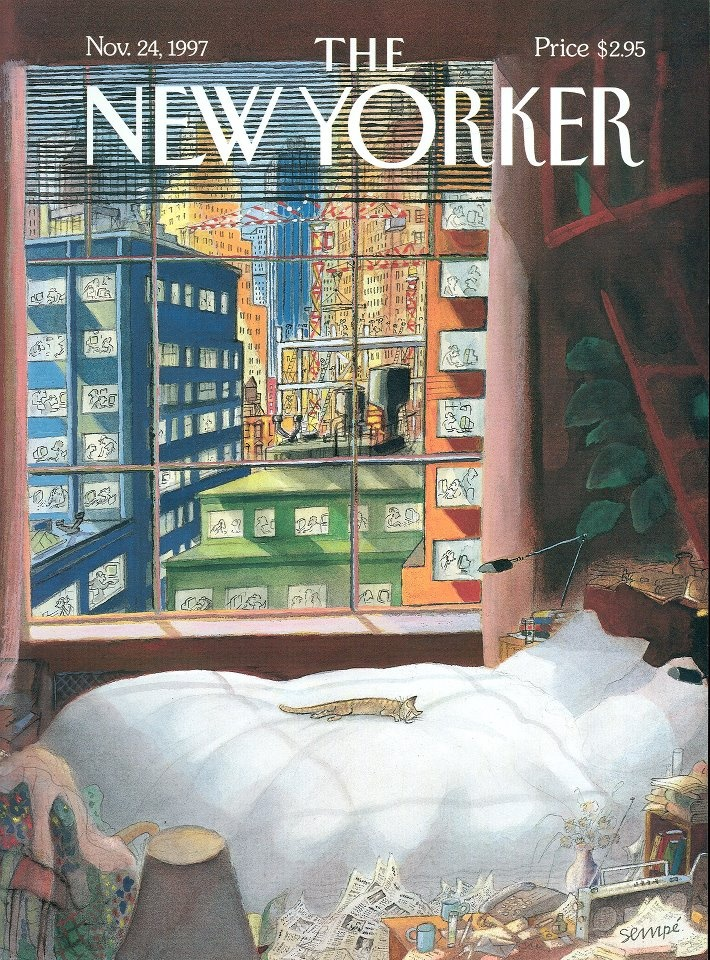 Jean-Jacques Sempé  Probably my favorite New Yorker cover . . . ever.  www.newyorker.com