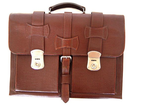 Leather Briefcase. by AMUARA on Etsy