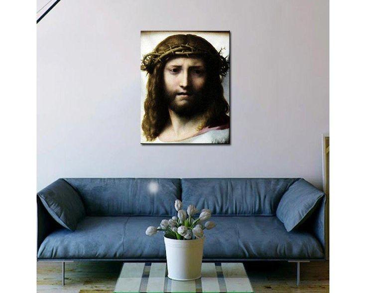 Head of Christ, Antonio da Correggio, αντίγραφο - αναπαραγωγή πινακα σε καμβά,49,90 €,https://www.stickit.gr/index.php?id_product=1660&controller=product, Δείτε το !