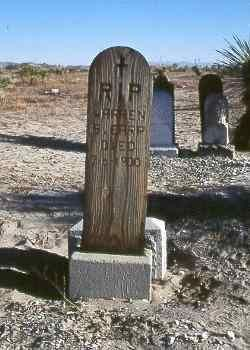 Warren Baxter Earp (1855-1900)  – The youngest of the Earp brothers, he joined the others in Tombstone in 1880, but was not in the settlement when brothers Virgil, Morgan and Wyatt had the Gunfight at the O.K. Corral. Warren later joined Wyatt in tracking down the killers of Morgan Earp in the infamous Earp Vendetta Ride.  Wilcox Cemetery, Wilcox, Arizona