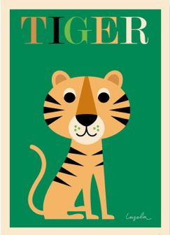 Moderna Museet Webshop - Tiger affisch