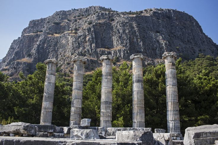 The Temple of Athena in Priene.