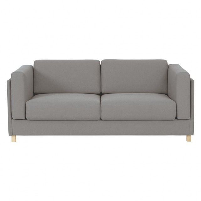 COLOMBO Grey fabric 3 seater sofa bed