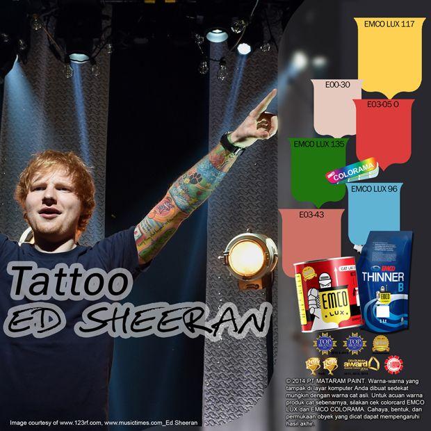 Tato Ed Sheeran  #tatoo #edsheeran #color #journey #music #likeforlike http://matarampaint.com/detailNews.php?n=387