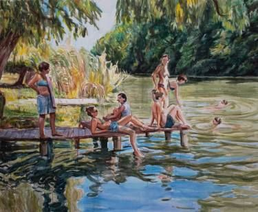 "Saatchi Art Artist Helena Janecic; Painting, ""The Bathers"" #art"