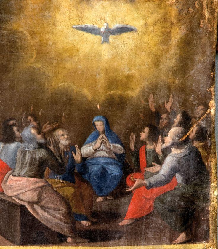 Preci fraz. Poggio Croce (PG). Chiesa dell'Annunziata, Pittore del XVII sec. Madonna del Rosario