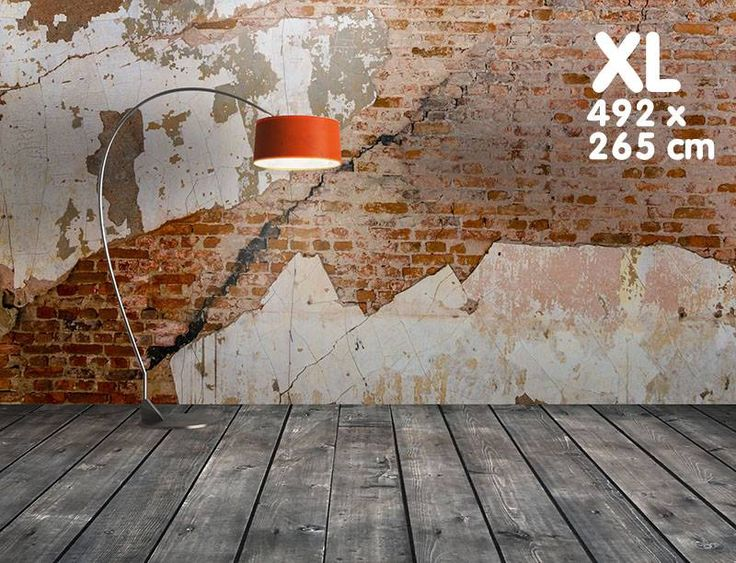 Zelfklevend fotobehang: Oude bakstenen fabrieksmuur -XL