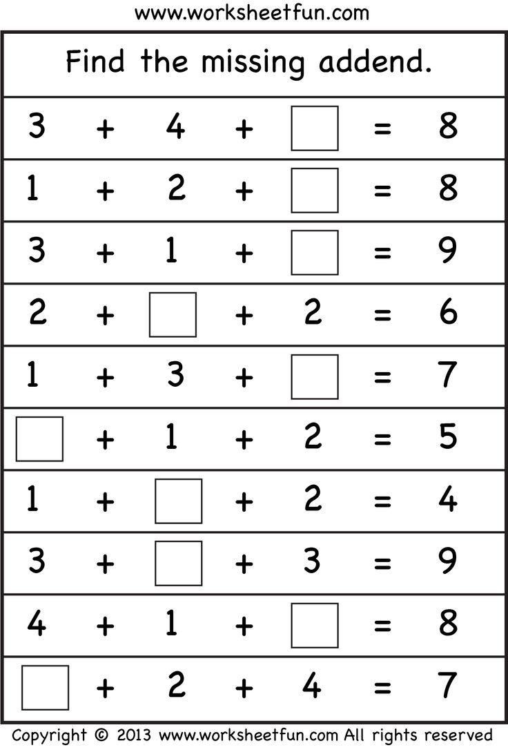 worksheet Adding Three Numbers Worksheet 14 best adding 3 numbers images on pinterest teaching ideas missing addend four worksheets free printable worksheetfun find this pin and more numbe
