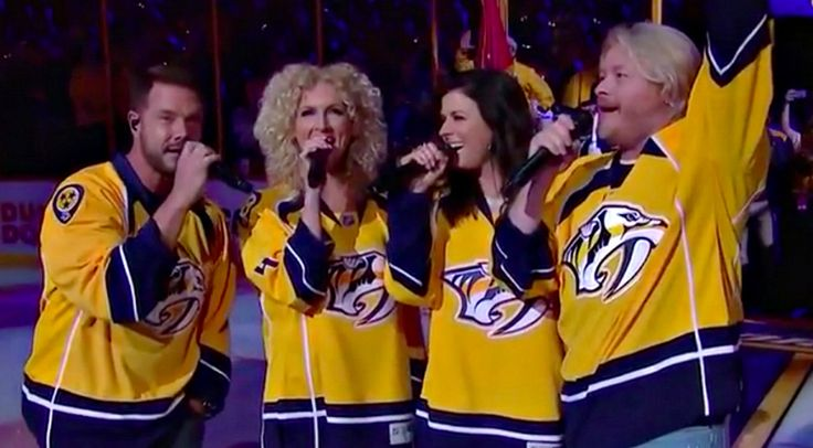 Country Music Lyrics - Quotes - Songs Little big town - Little Big Town Delivers Jaw Dropping National Anthem Performance Prior To NHL Playoff Game - Youtube Music Videos https://countryrebel.com/blogs/videos/little-big-town-crushes-national-anthem-in-surprise-stanley-cup-playoff-performance