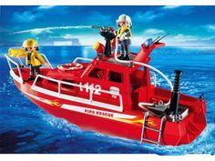 PLAYMOBIL - 3128 - Secouristes / bateau de sauvetage