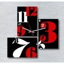 Reloj De Pared Tríptico Y Cuadro Decoración Diseños Nuevos