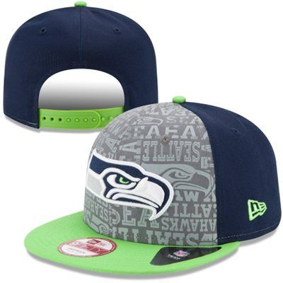 For my son...He would love this one! Mens New Era College Navy Seattle Seahawks 2014 NFL Draft 9FIFTY Snapback Hat