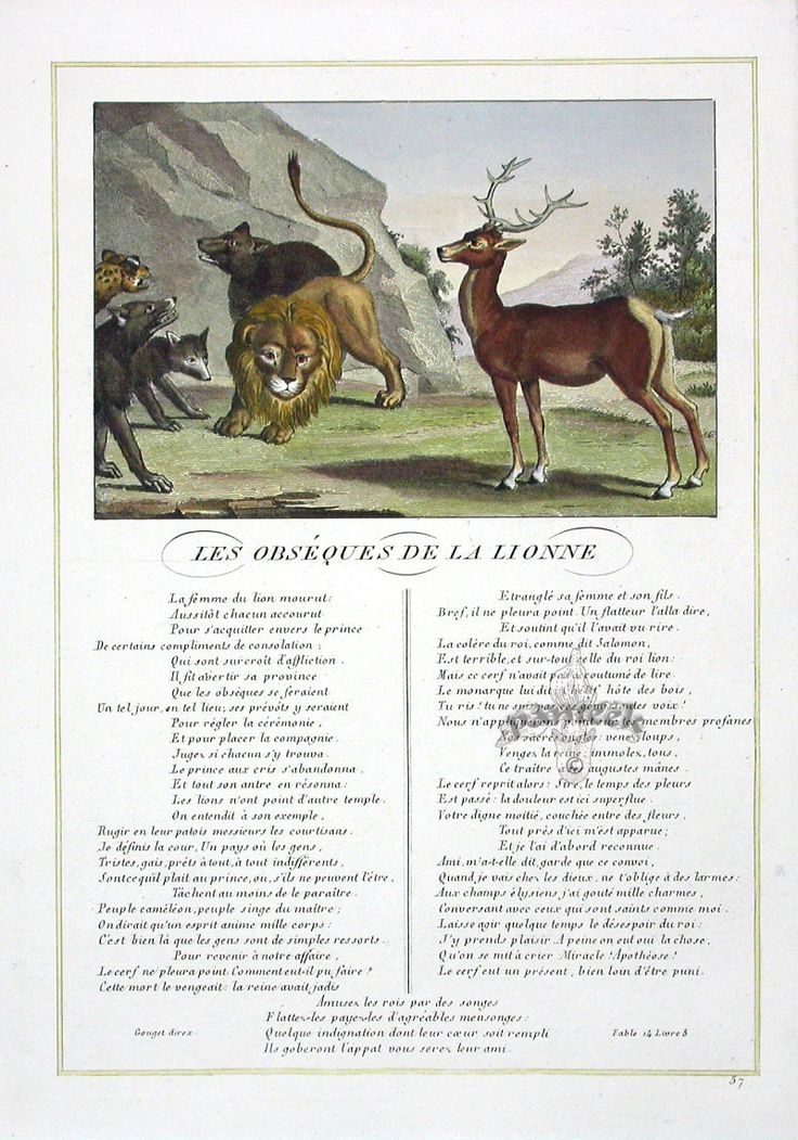 Fables of La Fontaine 1834