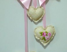 3 Hearts Hanging Shabby Chic Romantic decoration