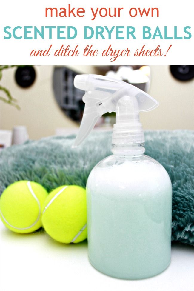 Make Your Own Scented Dryer Balls