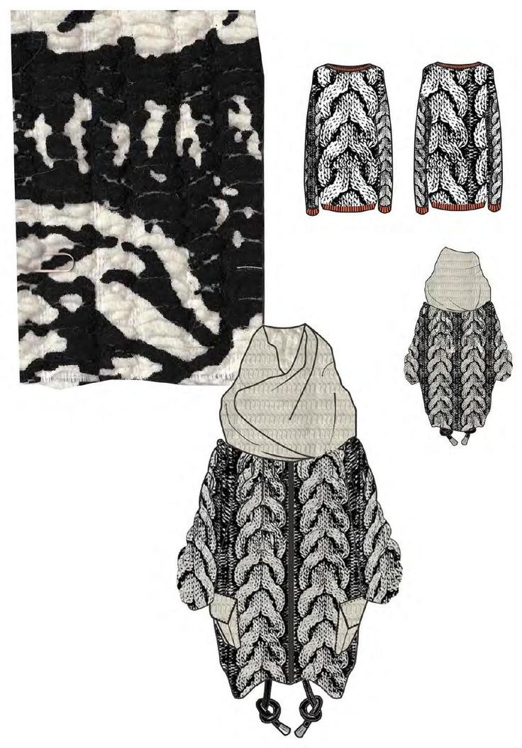Fashion Sketchbook - knitwear illustrations & knit sample; fashion portfolio layout // Philli Wood