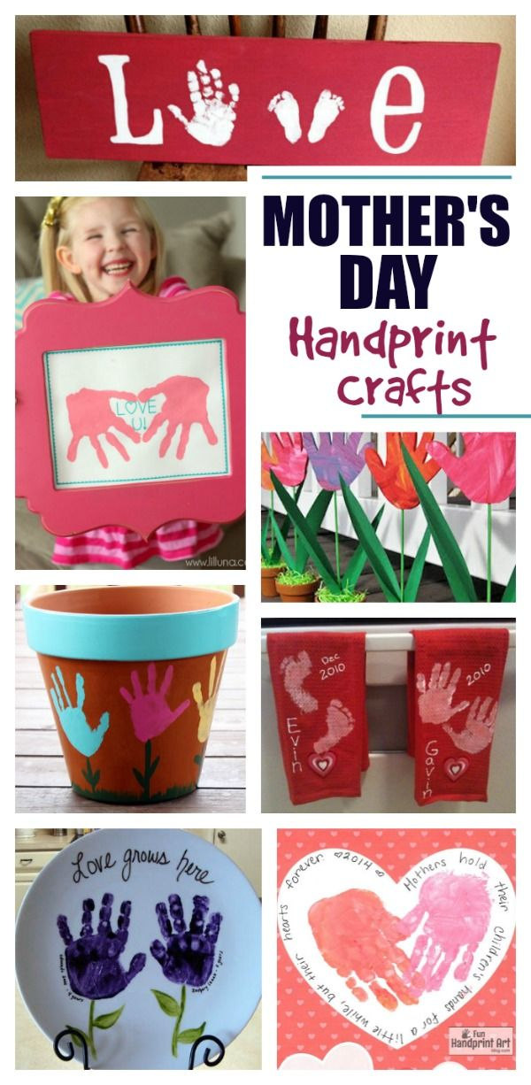20+ Mother's Day handprint crafts that are utterly adorable!  These would make great gifts for mom or grandma