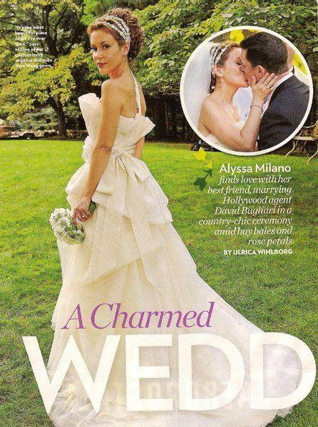 Alyssa milano weddingvera wang child stars wang gowns maria elena