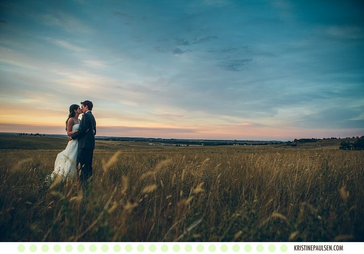 Kisses in the Swaying Grasses - Megan and Jason's Great Falls, Montana Wedding - Photos by Kristine Paulsen Photography